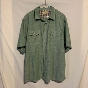 Woolrich men XXL green button front shirt 2763